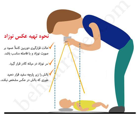 نحوه گرفتن عکس لاتاری برای نوزاد
